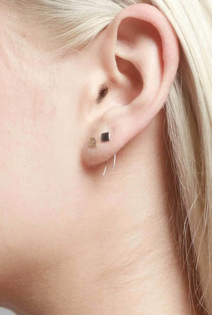 Square on Infinite Tusk Earring