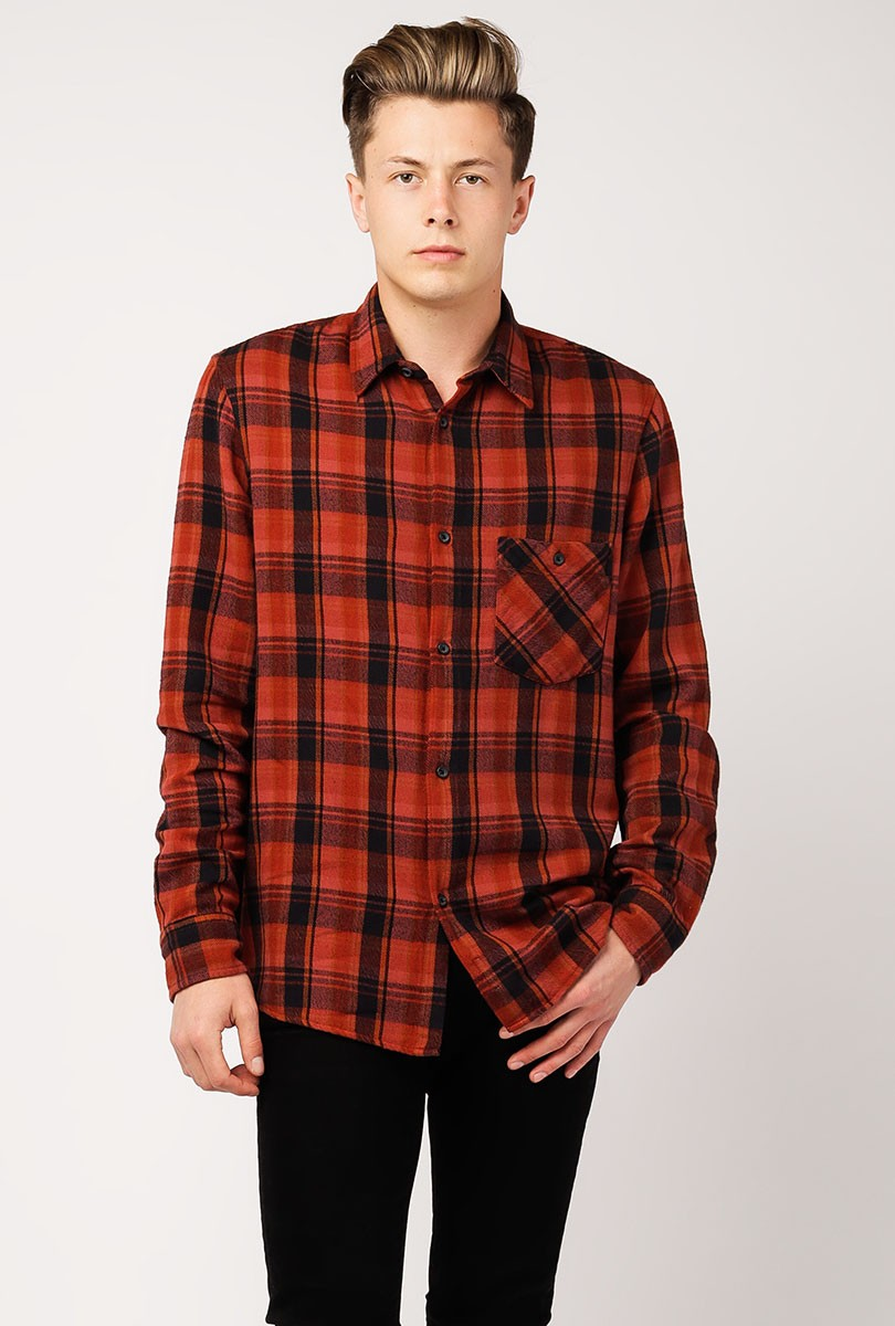 Sten Overdyed Check Long Sleeve Shirt