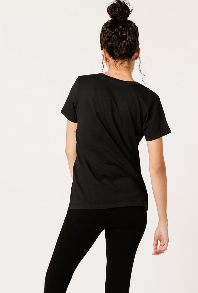 #46 T-Shaped V Neck Tee