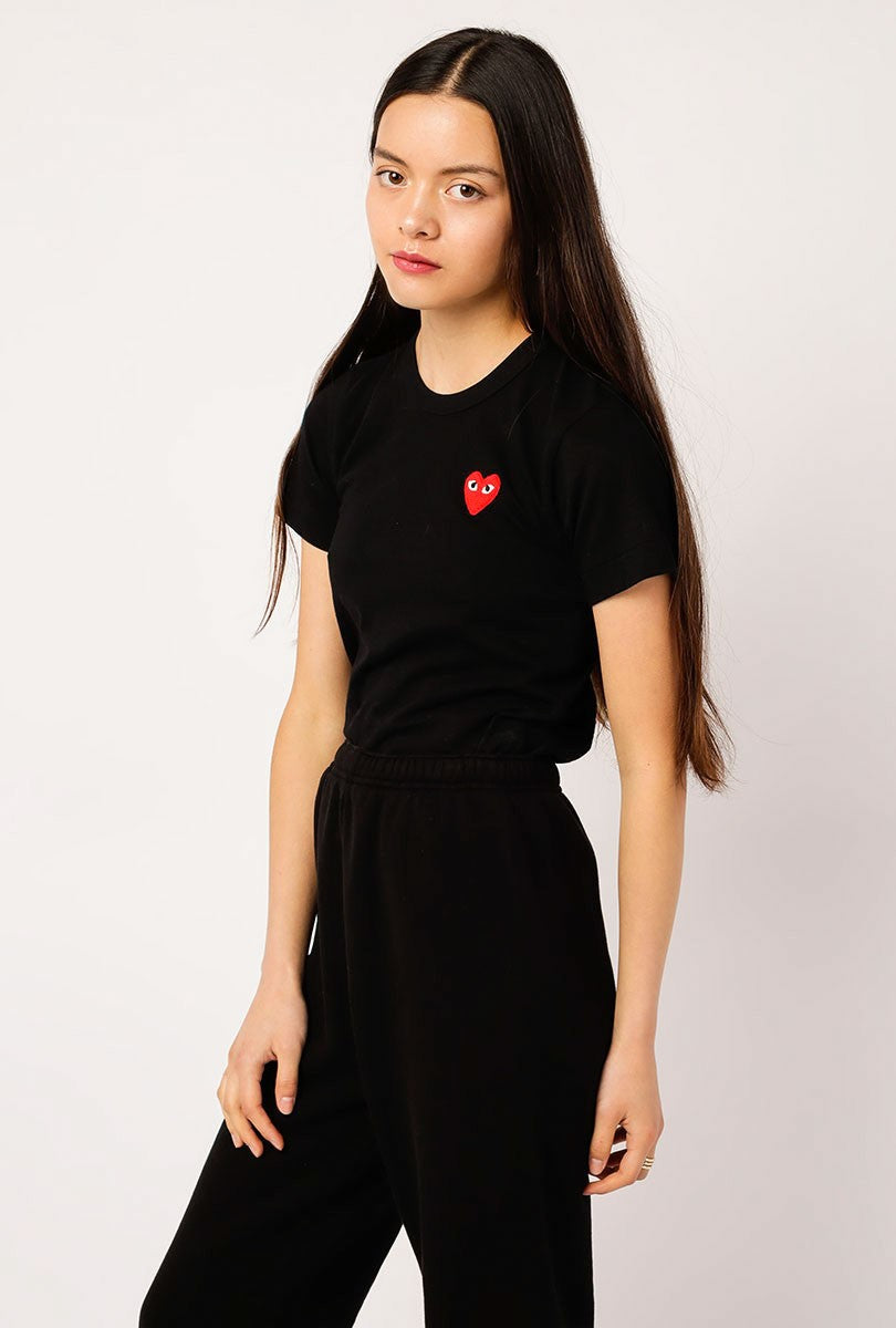 Women's Red Small Heart Tee