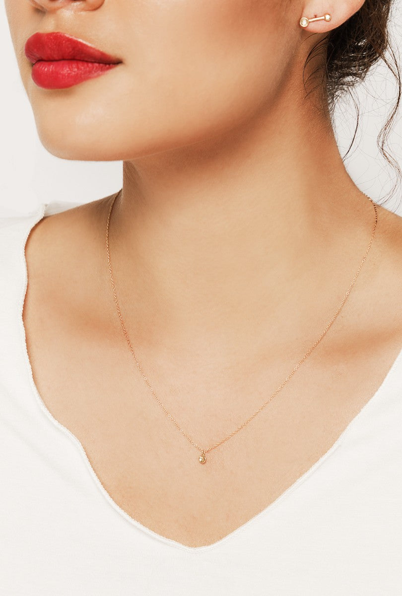 Tiny Concave Necklace