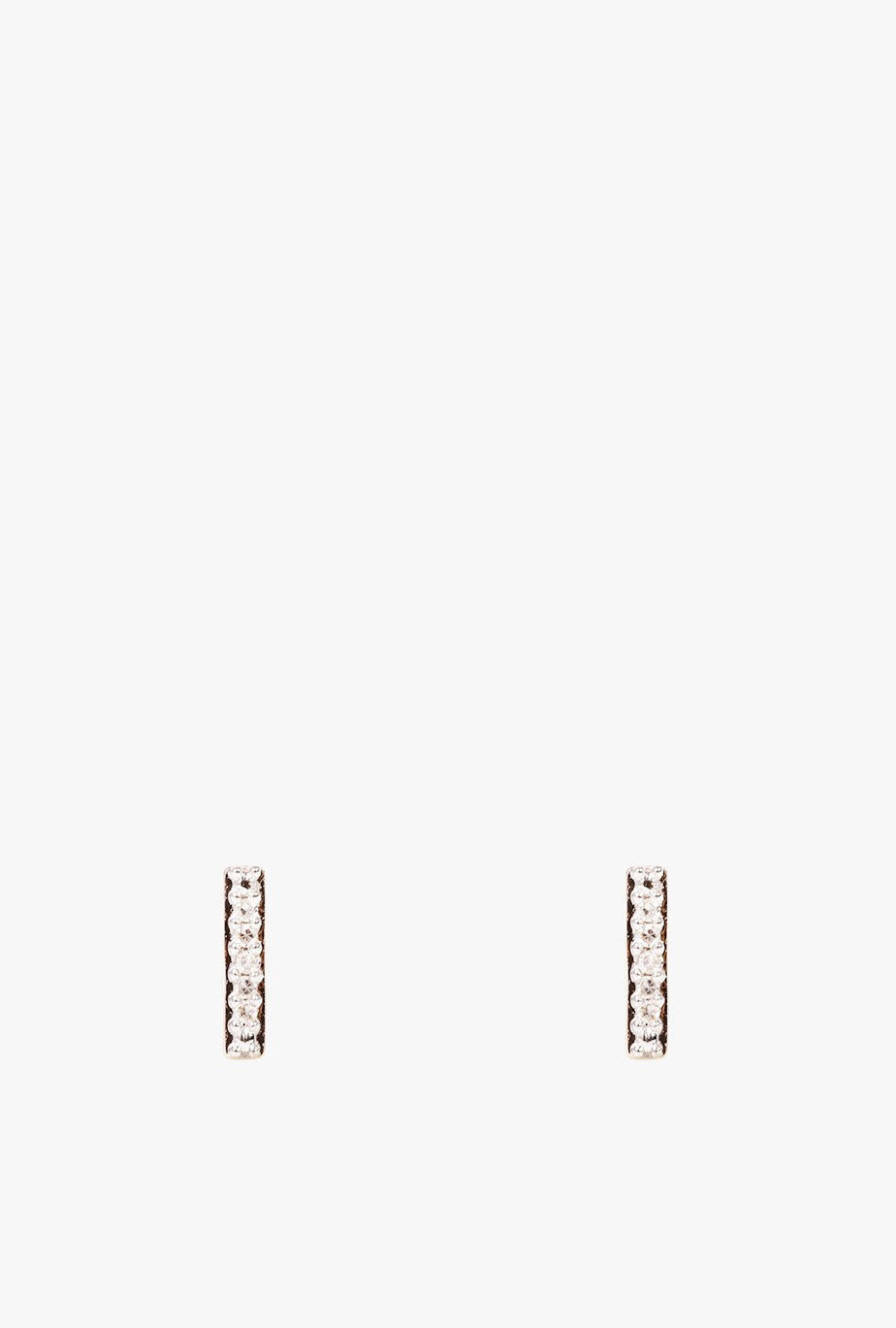 Tiny Pave Bar Post Earrings P