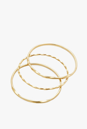 Twist Stacked Bangles - Set of 3