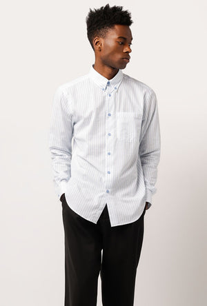 Vertical Stripe Lounge Shirt