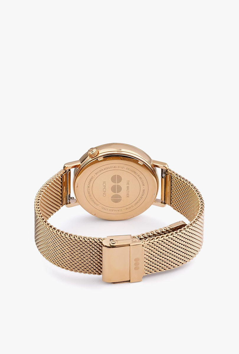 Walther Watch - Gold Mesh