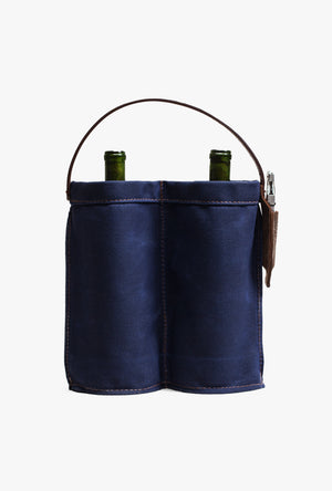 Wine Caddy - Indigo