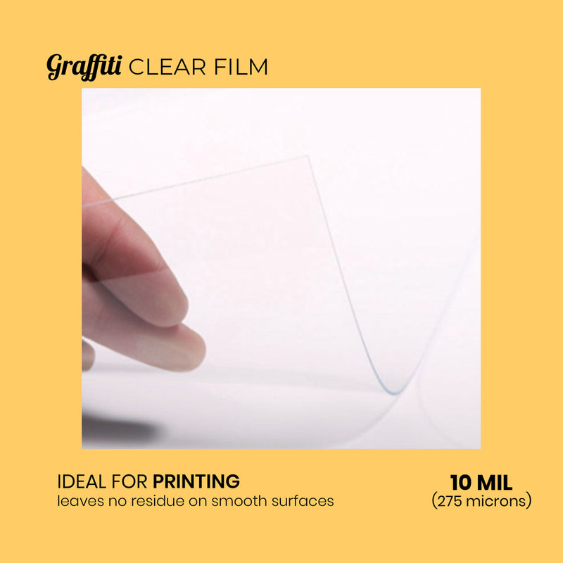 Graffiti Clear Film - 10 mil for Face Shield