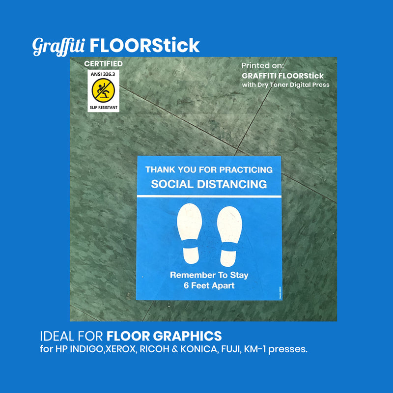Graffiti FloorStick with removable adhesive