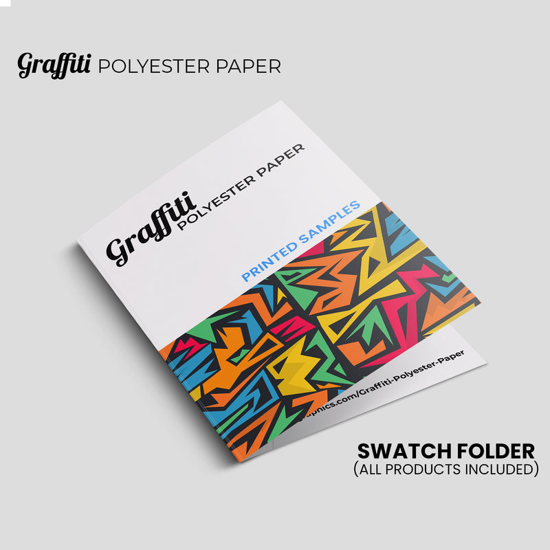 "Graffiti Polyester Paper - Swatch Book - 8""X5"""
