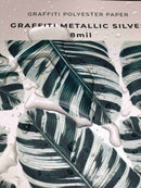 Graffiti Metallic Polyester - Silver Finish