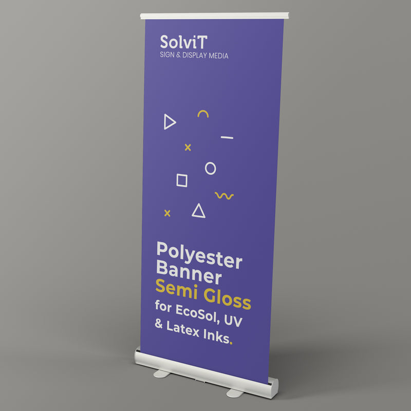 SolviT Stay Flat Polyester Banners (Grey Back) 8mil