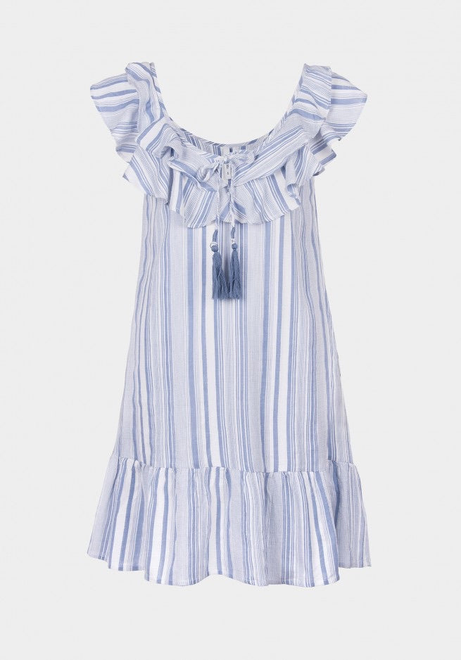 Macy blue and white dress