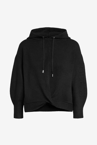 Guess Mabel black hoodie sweater