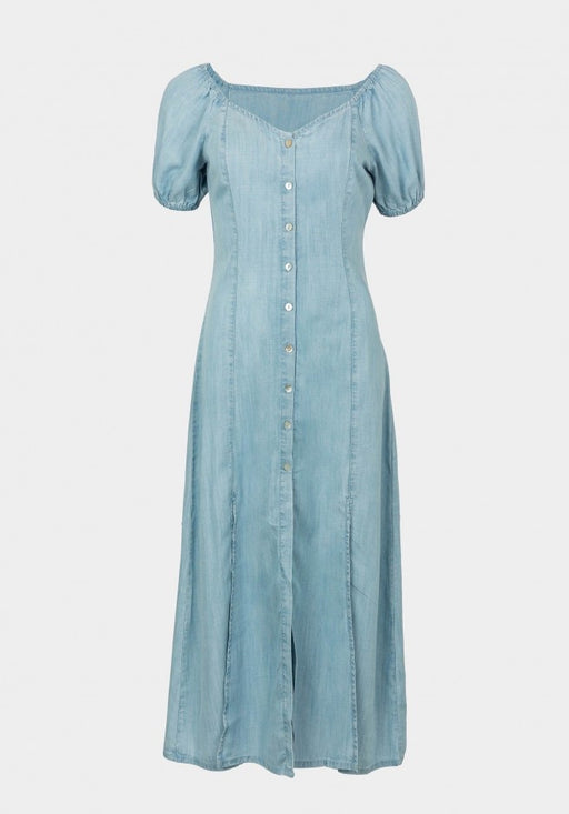 Charlotte denim midi dress