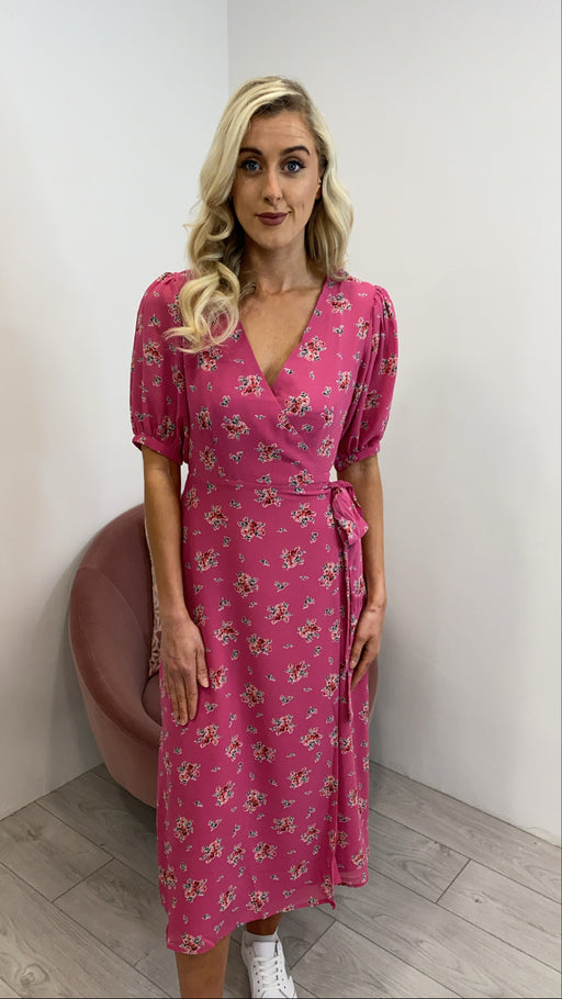 Pink Lilly floral wrap ac2920 dress