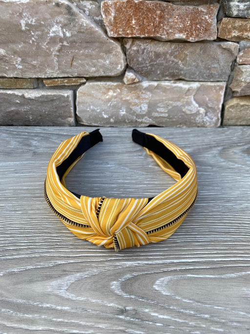 Yellow zip hairband