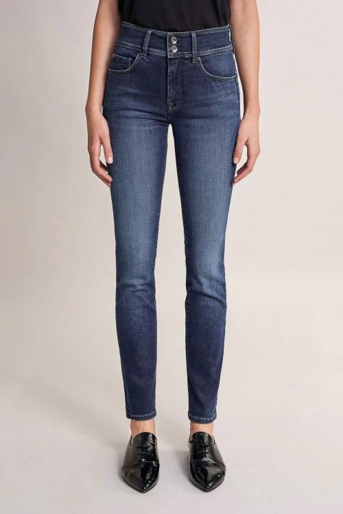 124777 PUSH IN SECRET DARK DENIM SLIM LEG JEANS