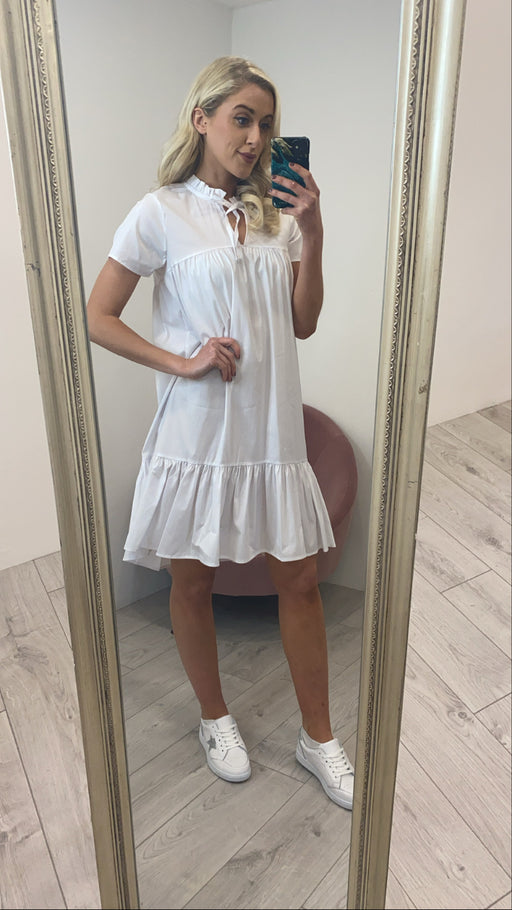 Jules white midi dress
