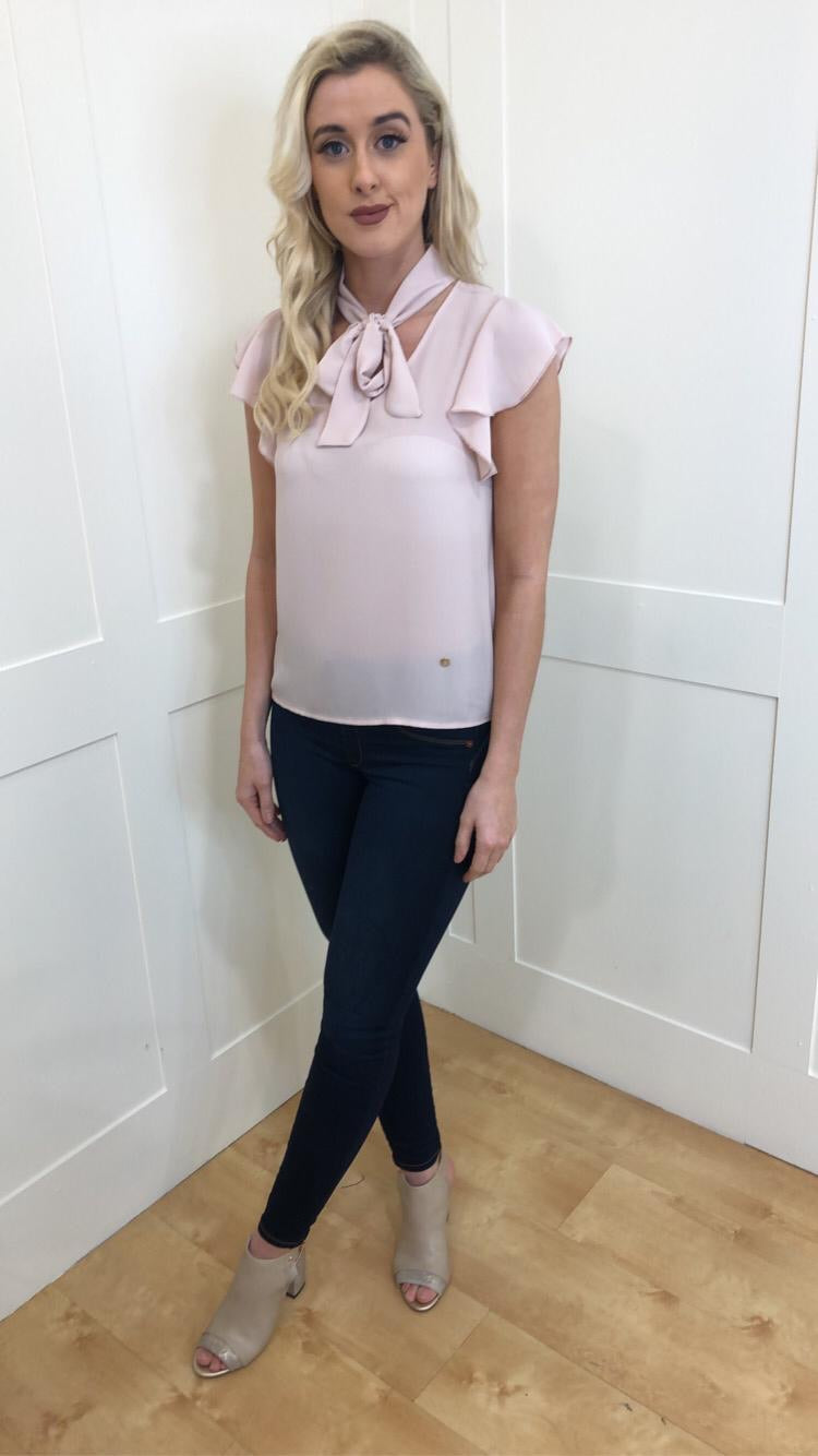 Hayley Blush Bow Blouse
