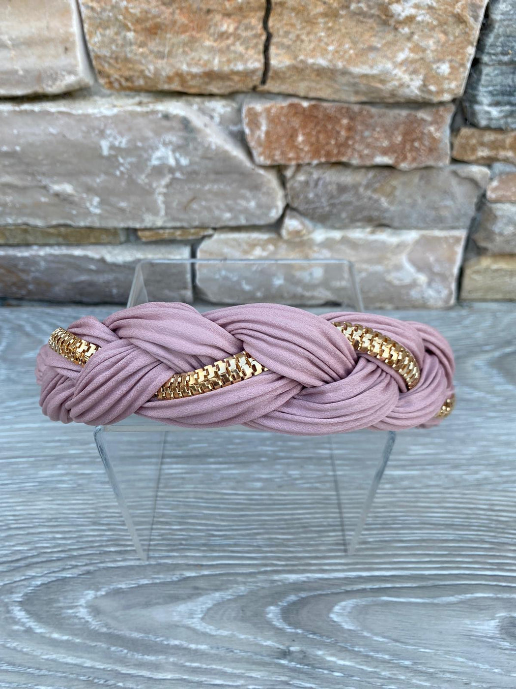 Pink plait hairband