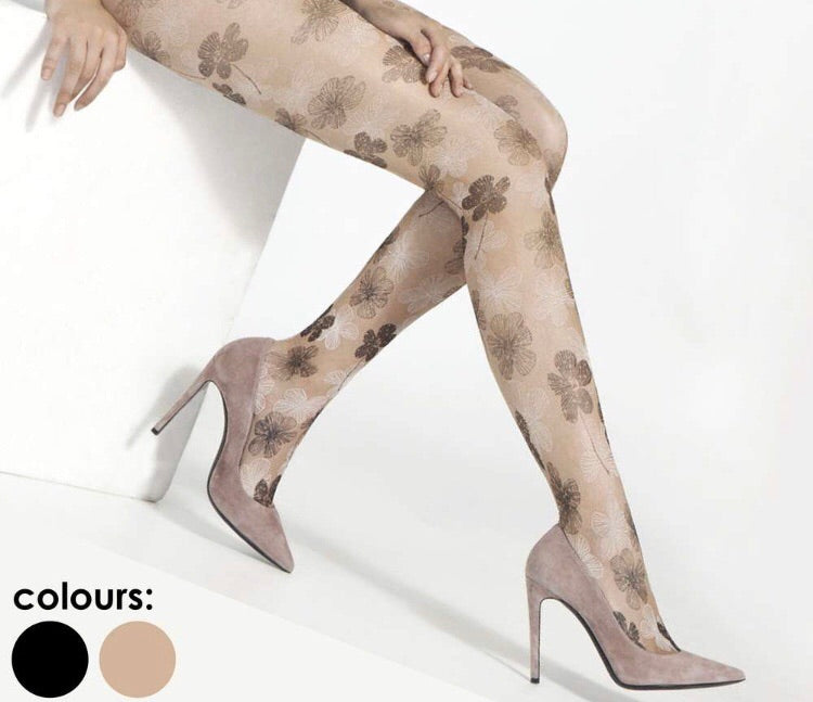 3583 FLORAL PRINT TIGHTS