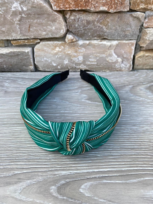 Green zip hairband