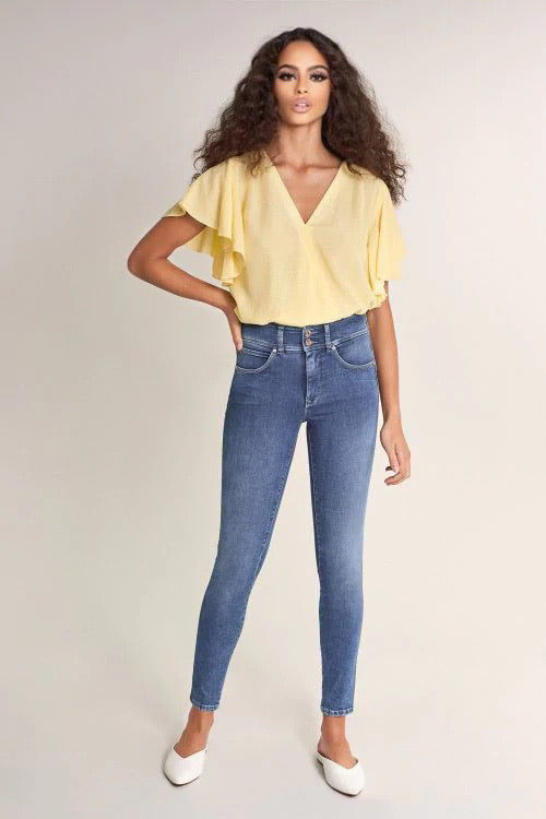 125079 PUSH IN SECRET SOFT TOUCH SKINNY JEANS WITH STITCHING DETAILS