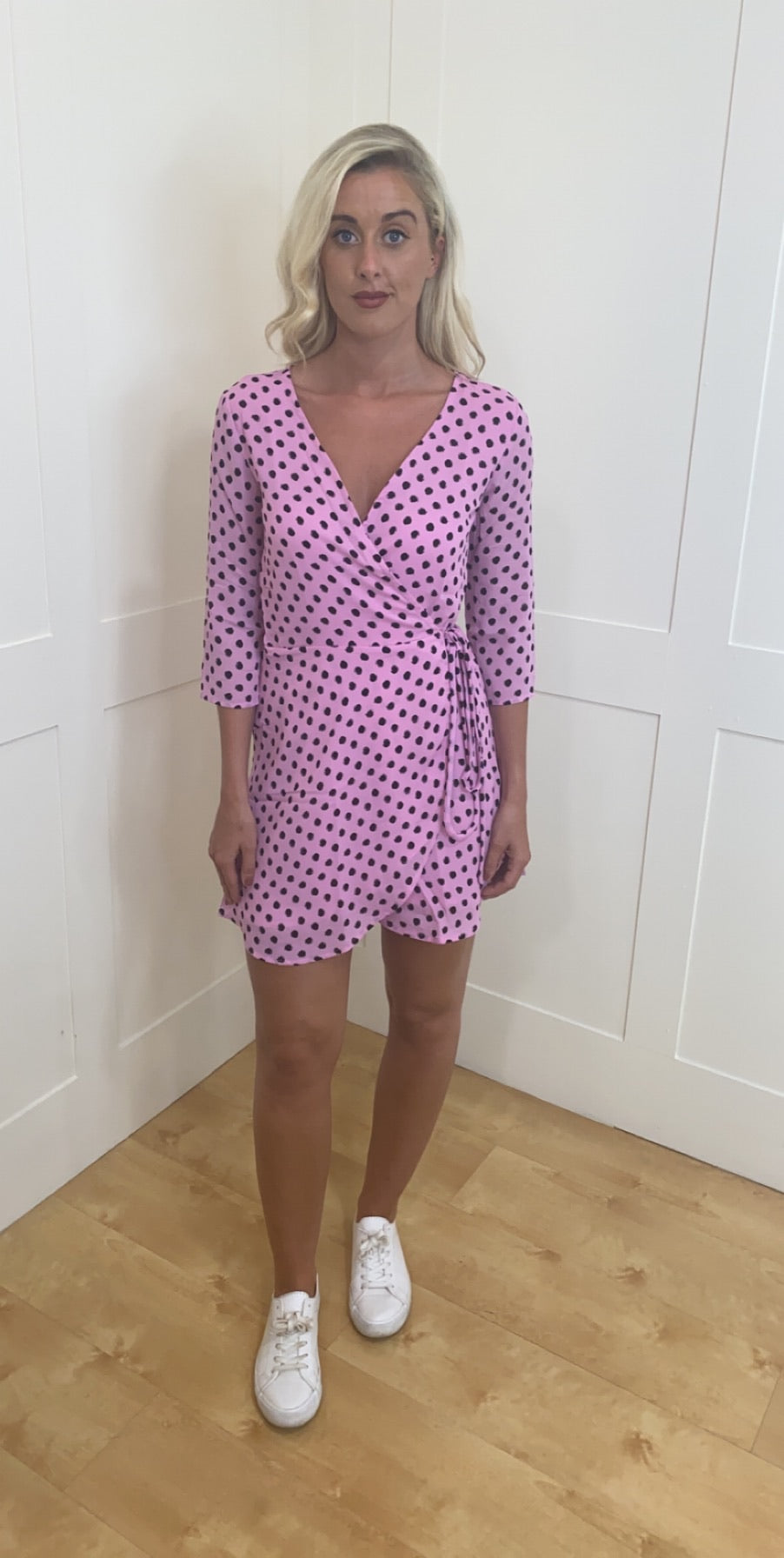 Teagan mini dancing leopard dress pink dotty