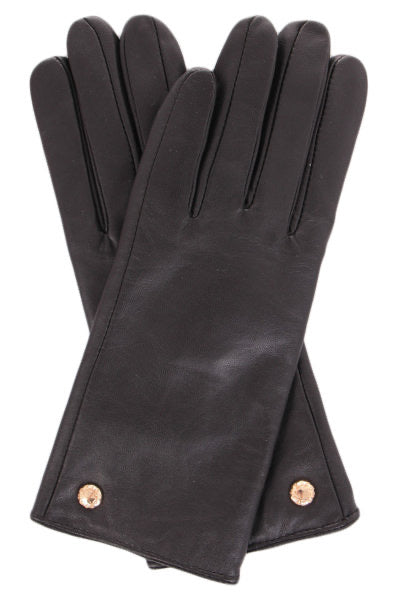 Guess Leather Gloves Brown