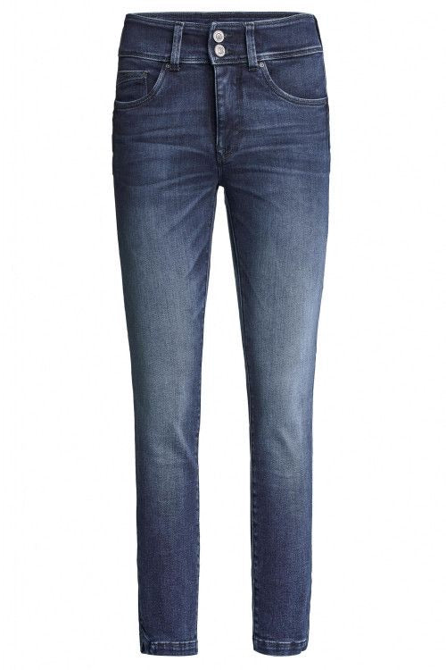 125093 PUSH IN SECRET CAPRI JEANS WITH EMBROIDERED DETAILS