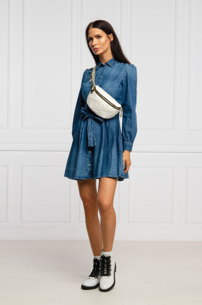 Raya denim shirt dress