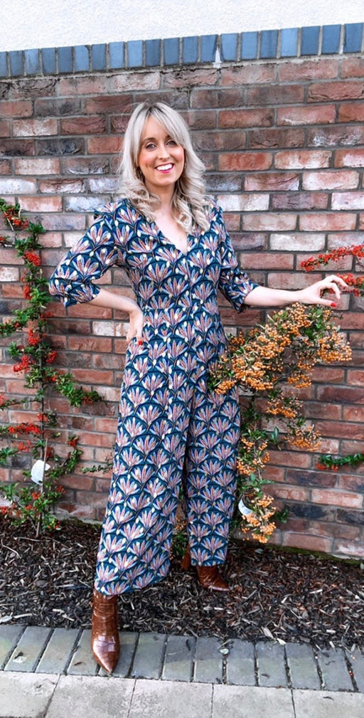 Betty jumpsuit teal