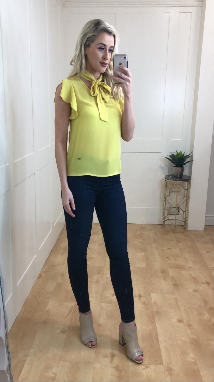 Hayley Yellow Bow Blouse