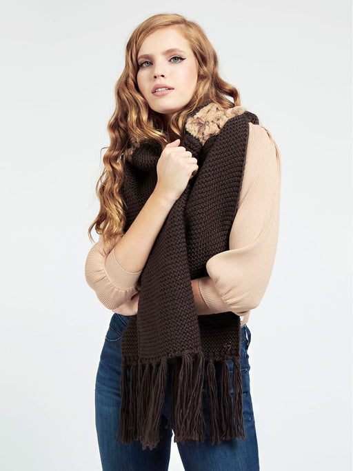 Jessie brown knitted scarf