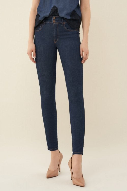 123630 Salsa Push In Secret High Waist Jeans