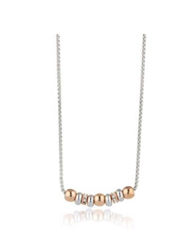 RHODIUM & ROSE GOLD NECKLACE