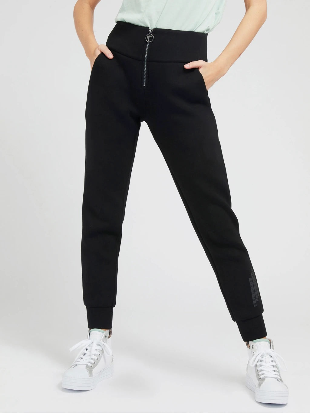 Huda zip guess scuba leggings