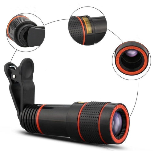 【Last day discount】Magic 12x Zoom Telescopic Lens (Compatible With All Phones)