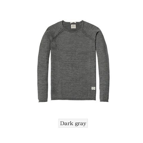 Spring New Sweater For Men Slim Fit 100% pure cotton pullover