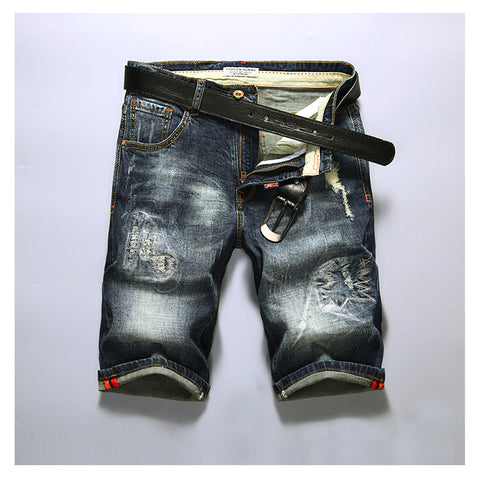 Fashionable breathable denim shorts