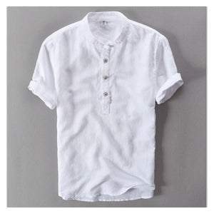New Summer Shirt  Thin Cotton Linen Shirt