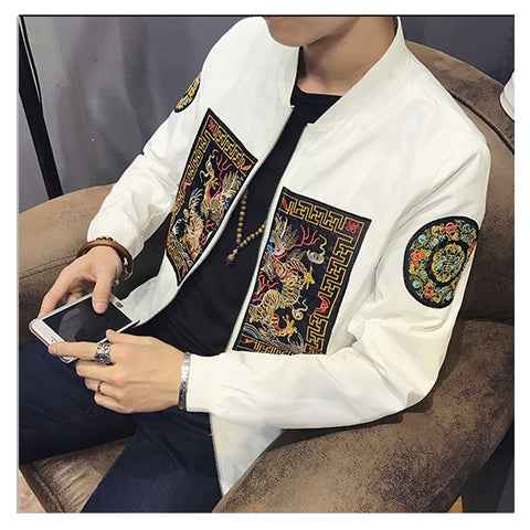 Spring Bomber Jacket Men