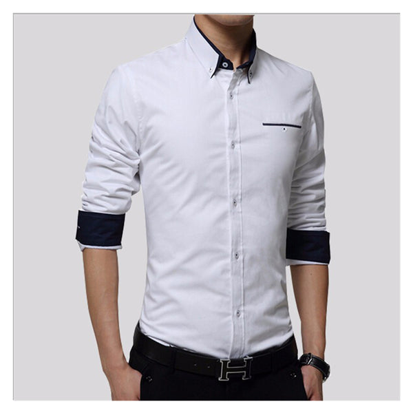 Shirts For Men  Business Long Sleeve Turndown Collar