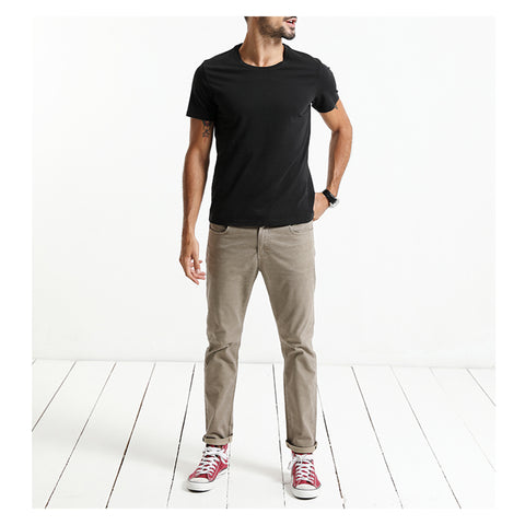 New T-shirt For men Slim Fit solid Color