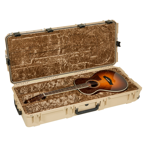 SKB 3i-4217-30-T Injection Molded Classical Guitar Case - TSA Latches, with wheels (Tan)