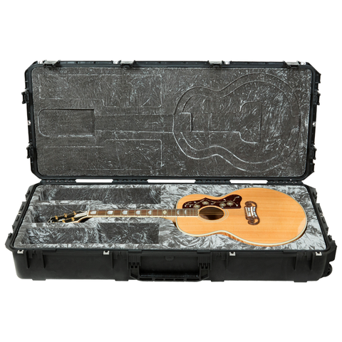 SKB 3i-4719-20 Injection Molded Jumbo Guitar Case - TSA Latches, w/ wheels