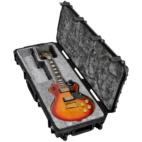 SKB 3i-4214-56 Injection Molded Les Paul Flight Case - TSA Latches, w/wheels