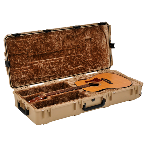 SKB 3i-4217-18-T Injection Molded Acoustic Guitar Case - TSA Latches, with wheels (Tan)