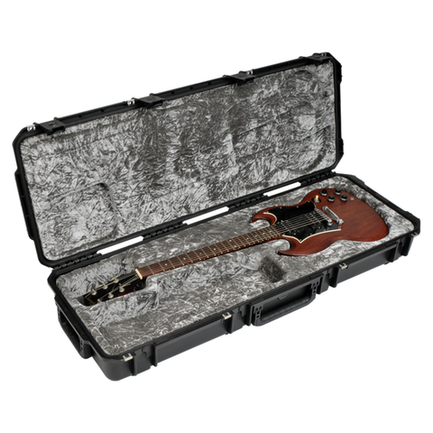 SKB 3i-4214-61 iSeries Waterproof Injection Molded Guitar Case,, SG Type Shaped Interior - TSA Latches, w/wheels