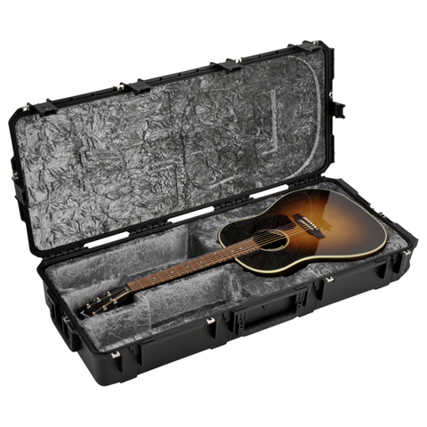 SKB Injection Molded Acoustic Guitar Case - TSA Latches, with wheels (3i-4217-18)
